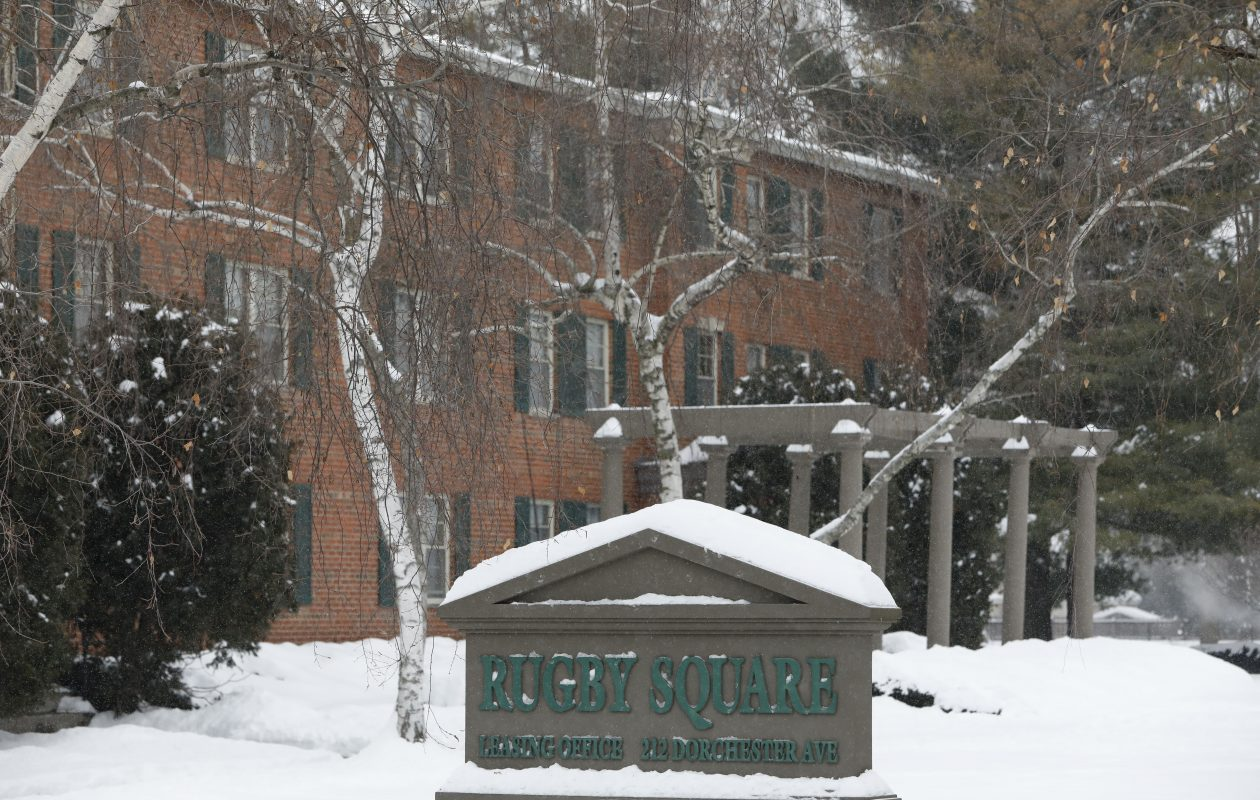 The Rugby Square apartment complex in Syracuse sold in 2012 to a limited liability company called Rugby Square LLC.  (Derek Gee/Buffalo News)