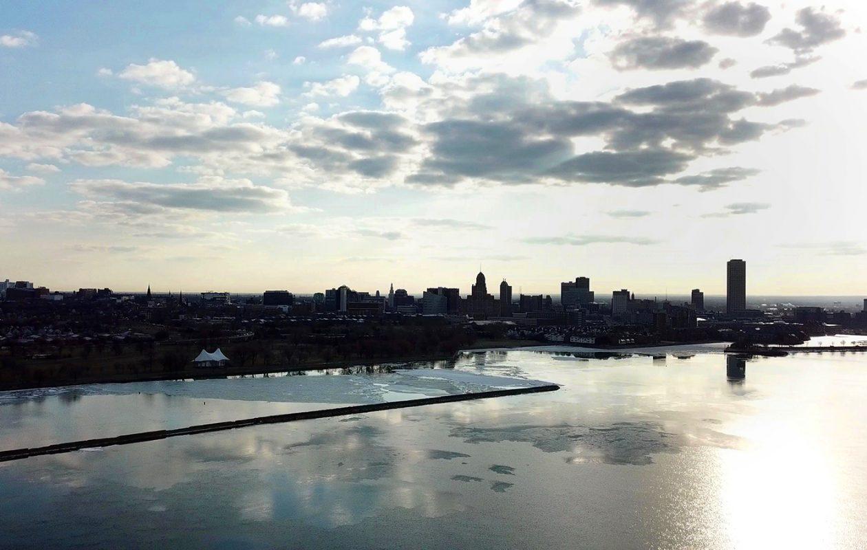 Sunny skies will turn to snowy skies Friday, if forecasts pan out. (John Hickey/Buffalo News)