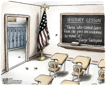 Here's a look at the strongest Adam Zyglis cartoons on American gun violence and mass shootings from the past six years. They are ordered chronologically, from his reaction to the Sandy Hook massacre of 2012 to the latest tragedy in Parkland, Fla.