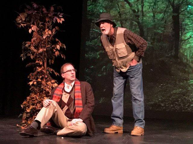 Dave Hayes, left, appears with Tom Owen in the Alleyway Theatre's production of 'Beginning Again.'