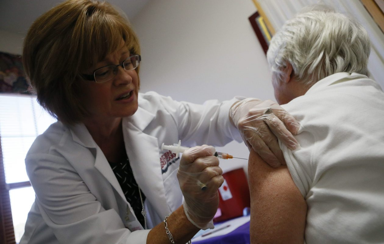 Health officials say the influenza vaccine, although not 100 percent effective, is the best way to prevent the flu. (Derek Gee/News file photo)