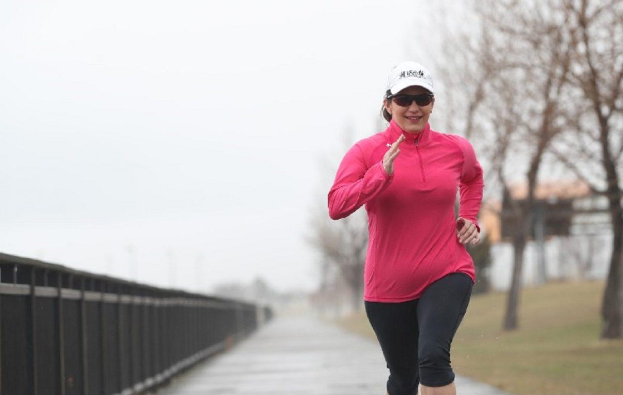 Buffalo News sportswriter and author Amy Moritz ran her first road race nearly a decade ago. (Photos my Sharon Cantillon/Buffalo News)