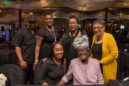 Black Tie for Black History Extravaganza was a dressy occasion to raise money for Stop the Violence and Buffalo Peacemakers, held Friday, Feb. 23, 2018, in the Metropolitan Entertainment Complex. February is Black History Month.