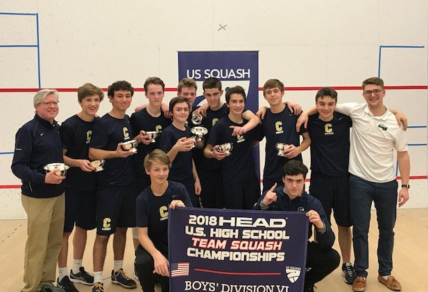 The Canisius squash team won the Division VI national championship in Philadelphia Sunday. (Photo courtesy of @CanisiusHS Twitter)