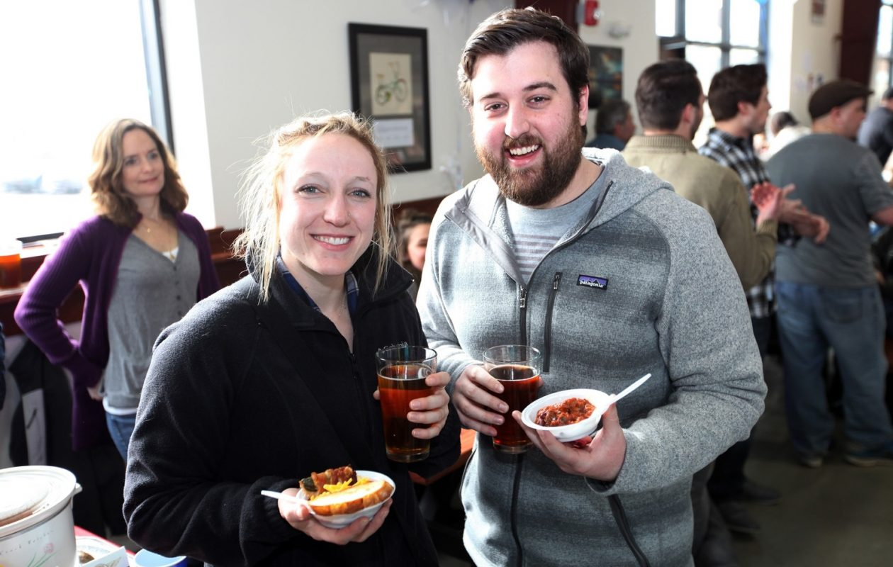 Smiling faces at the 2016 Flying Bison Chili Cookoff. (Robin David Brown/Special to The News)