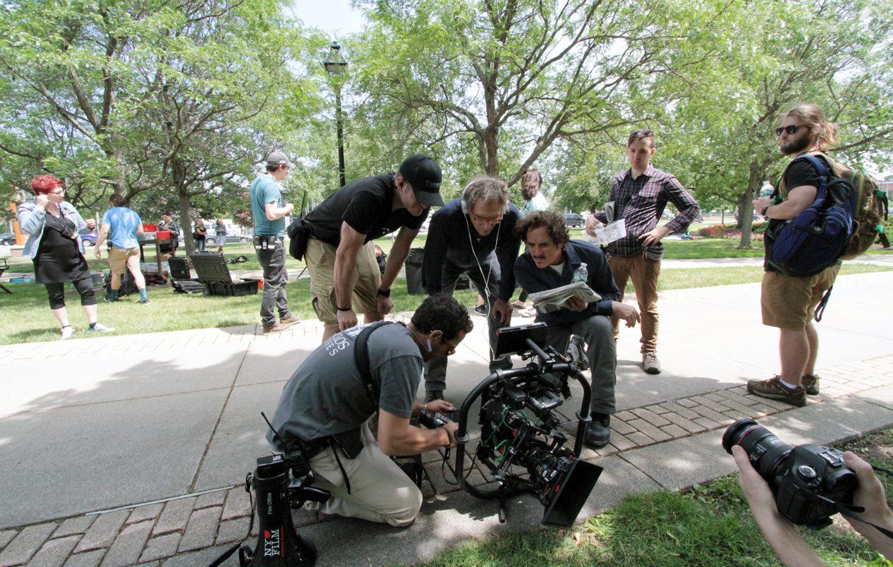 """Recognizable backdrops for the film """"Cold Brook"""" included the Buffalo History Museum and the Buffalo State campus. (Buffalo Niagara Film Office)"""