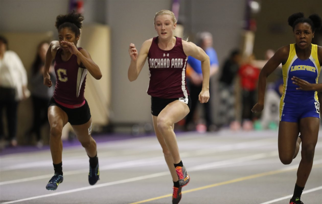 Orchard Park's Jenna Crean is the defending Section VI champion in the 55 meters, 300 and 4x200 relay. (Harry Scull Jr./Buffalo News file photo)