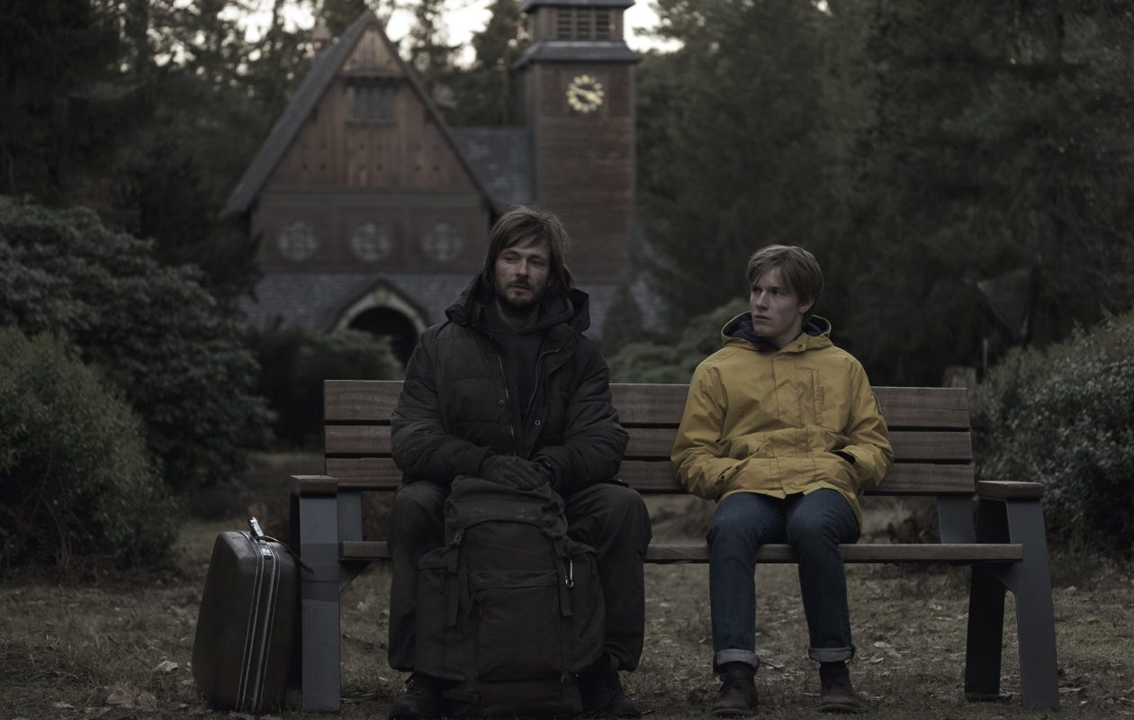 Andreas Pietschmann, left, and Louis Hofmann star in Dark now streaming on Netflix. (Photo by Stefan Erhard/Netflix)