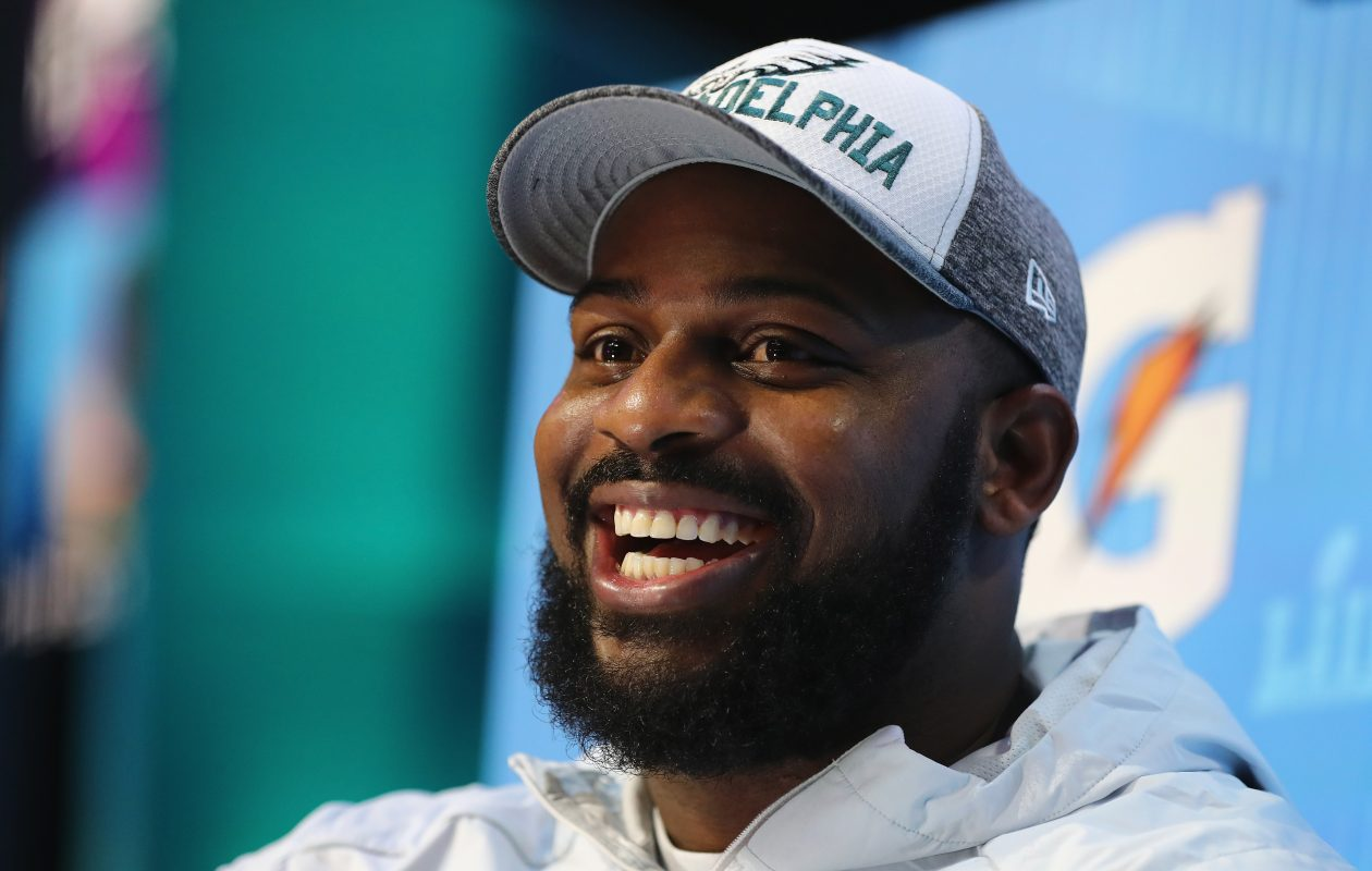 Fletcher Cox of the Philadelphia Eagles, who is 6-4, 310 pounds, could be the best defender on the field Sunday. (Getty Images)