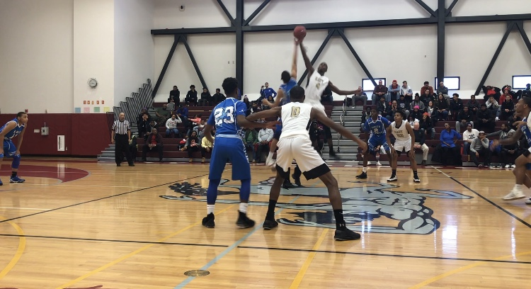 No. 1 small school Health Sciences beat No. 3 East, 65-62, in the main event of the MLK Classic held at City Honors Saturday. (Corey Desiderio/Buffalo News)