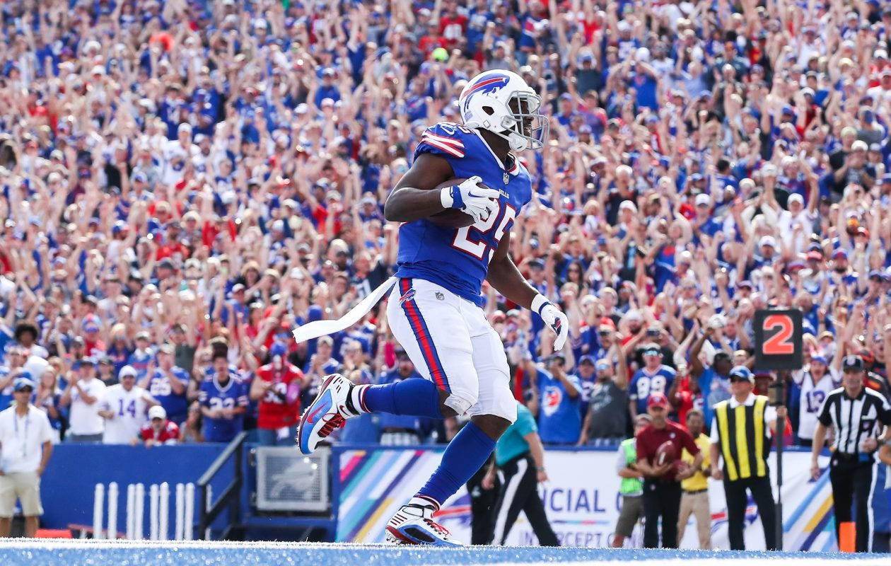 There's nothing like Bills fans, LeSean McCoy said. Whether we're winning or losing, you always have our backs. (Tom Szczerbowski/Getty Images)