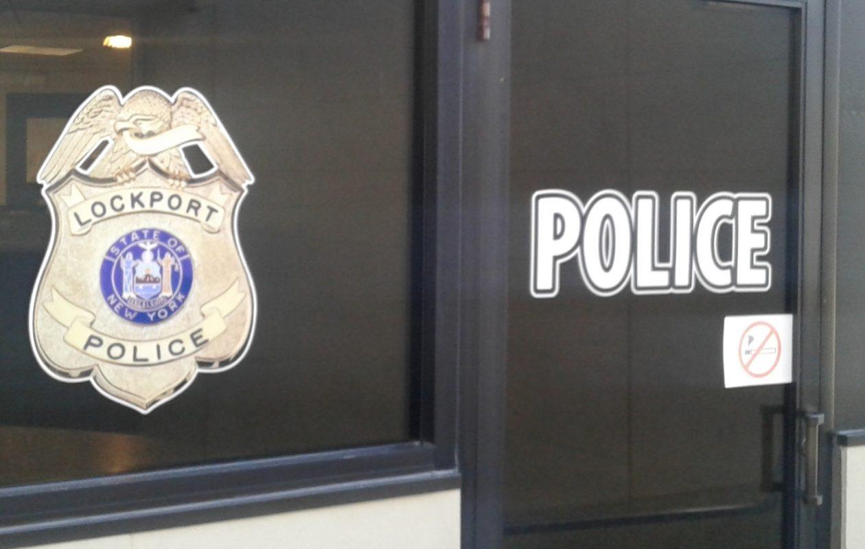 Entrance to Lockport Police headquarters. (Thomas J. Prohaska/Buffalo News)