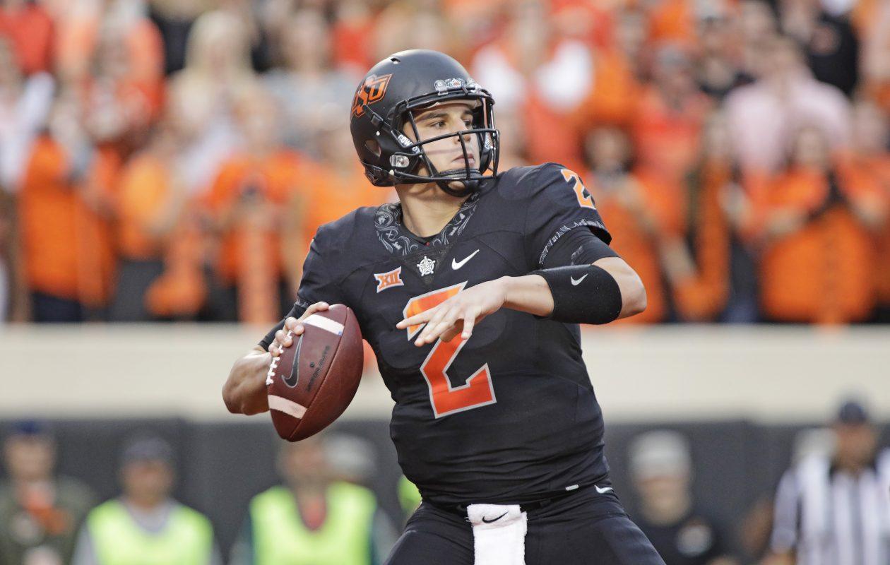 Oklahoma State quarterback Mason Rudolph had a standout senior season. (Getty Images)