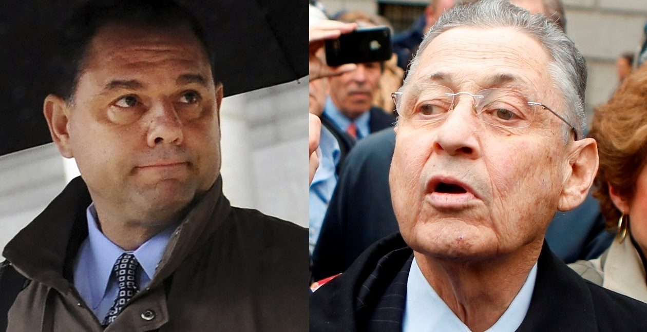 Joseph Percoco, left, and Sheldon Silver are having their trials heard in the same courtroom by the same judge in Manhattan.