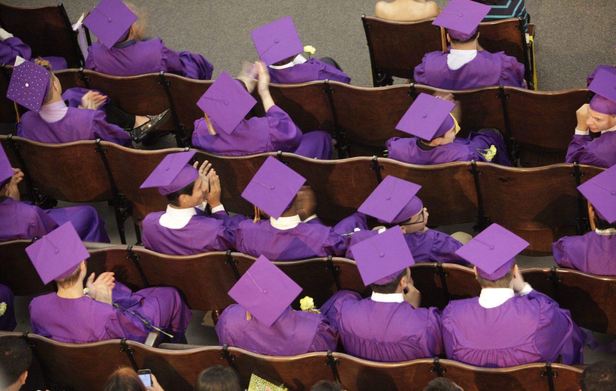 High school graduation rates across the state have risen, but educators worry about achievement gaps.  (Derek Gee/News file photo)