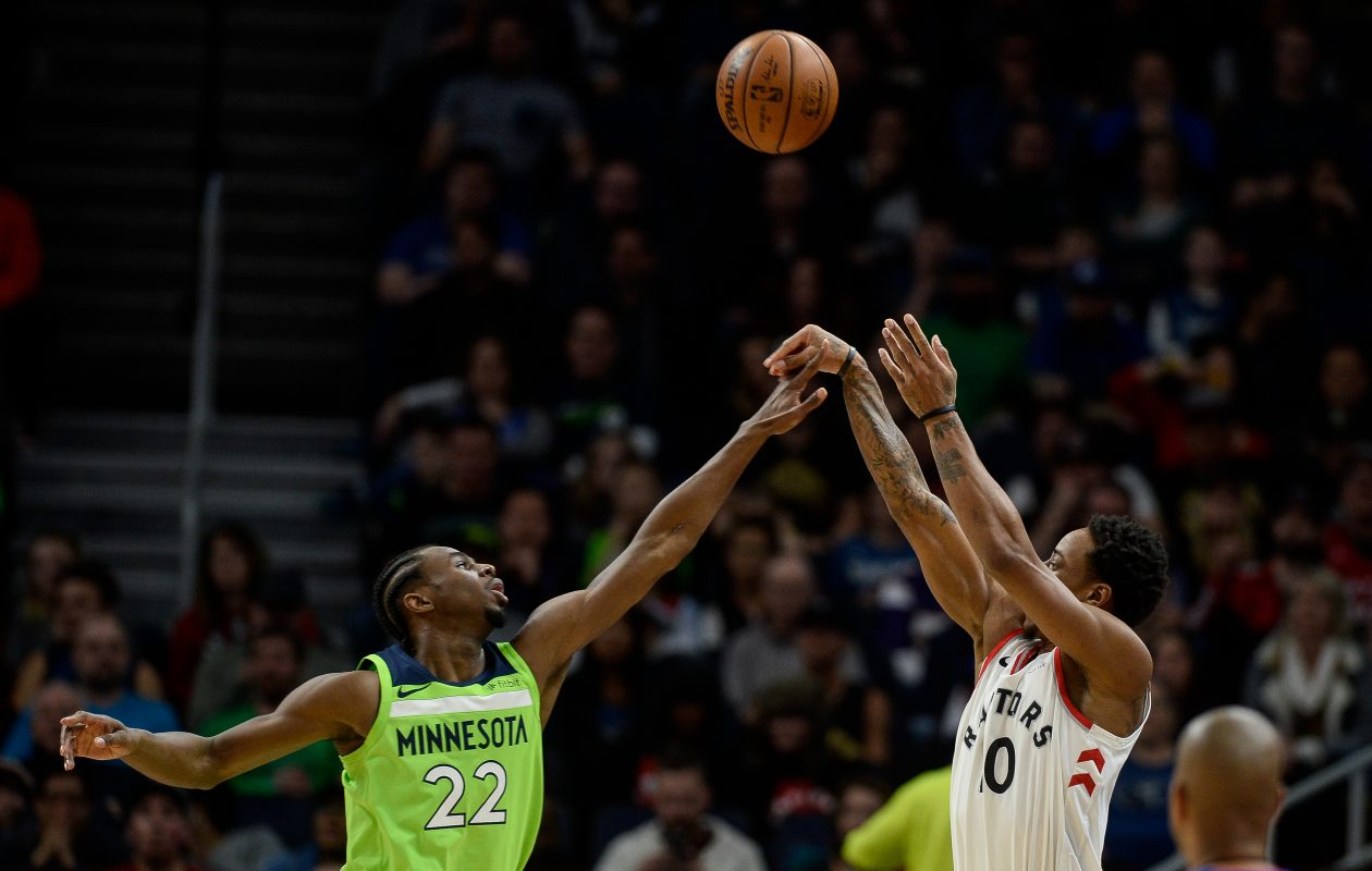 DeMar DeRozan, right, and the Toronto Raptors are on pace for their best season in team history, but can they get past the Cavaliers. (Tribune News Service)