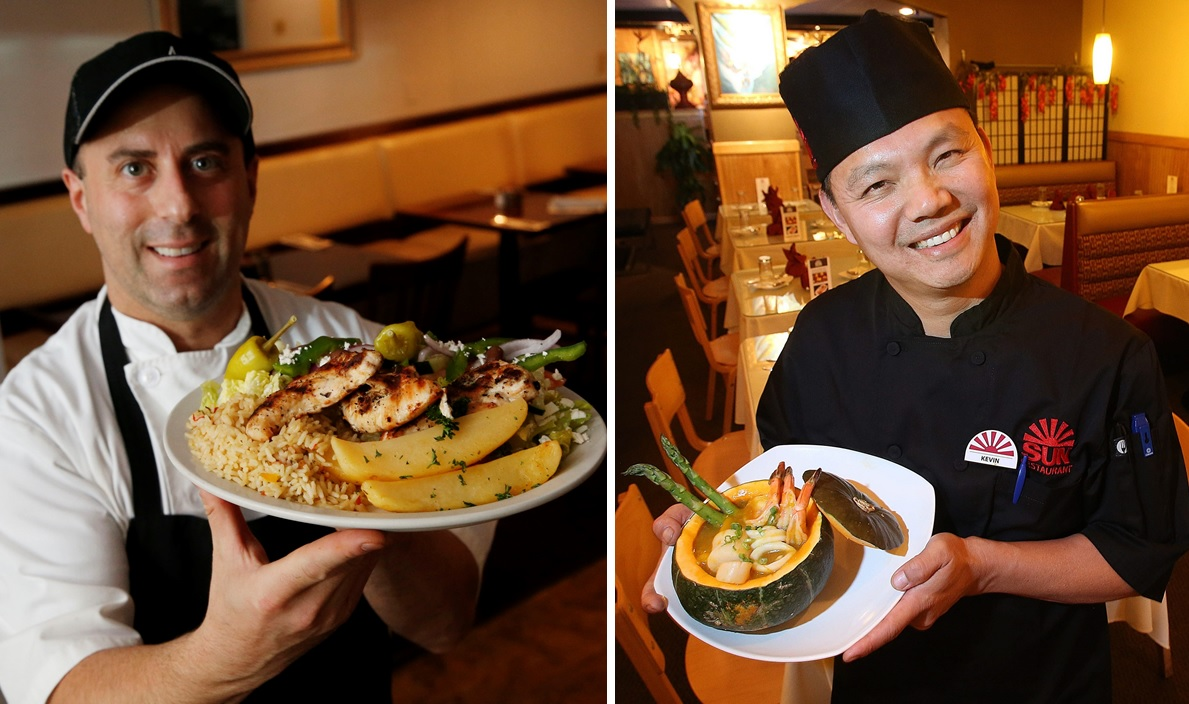 Paul Tsouflidis, left, and Kevin Lin, right, will join forces on a new project on Hertel Avenue. (News file photos)