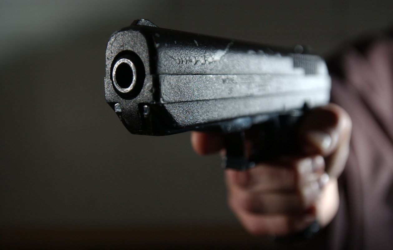 Close-up of a handgun. (Sharon Cantillon/Buffalo News)
