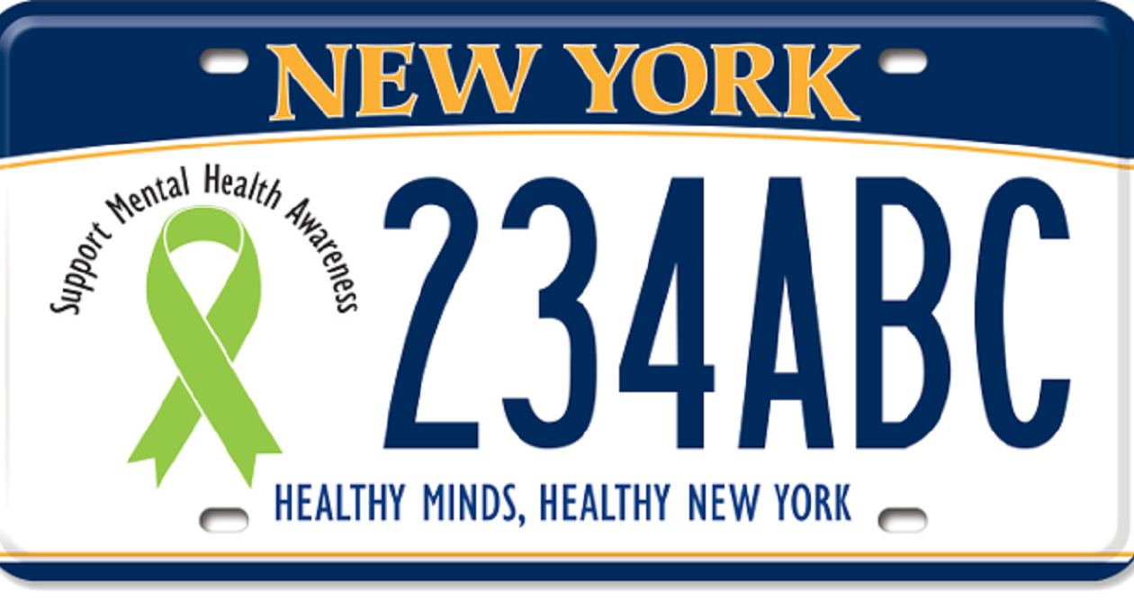 New York State has become the first in the nation to offer a mental health awareness license plate.
