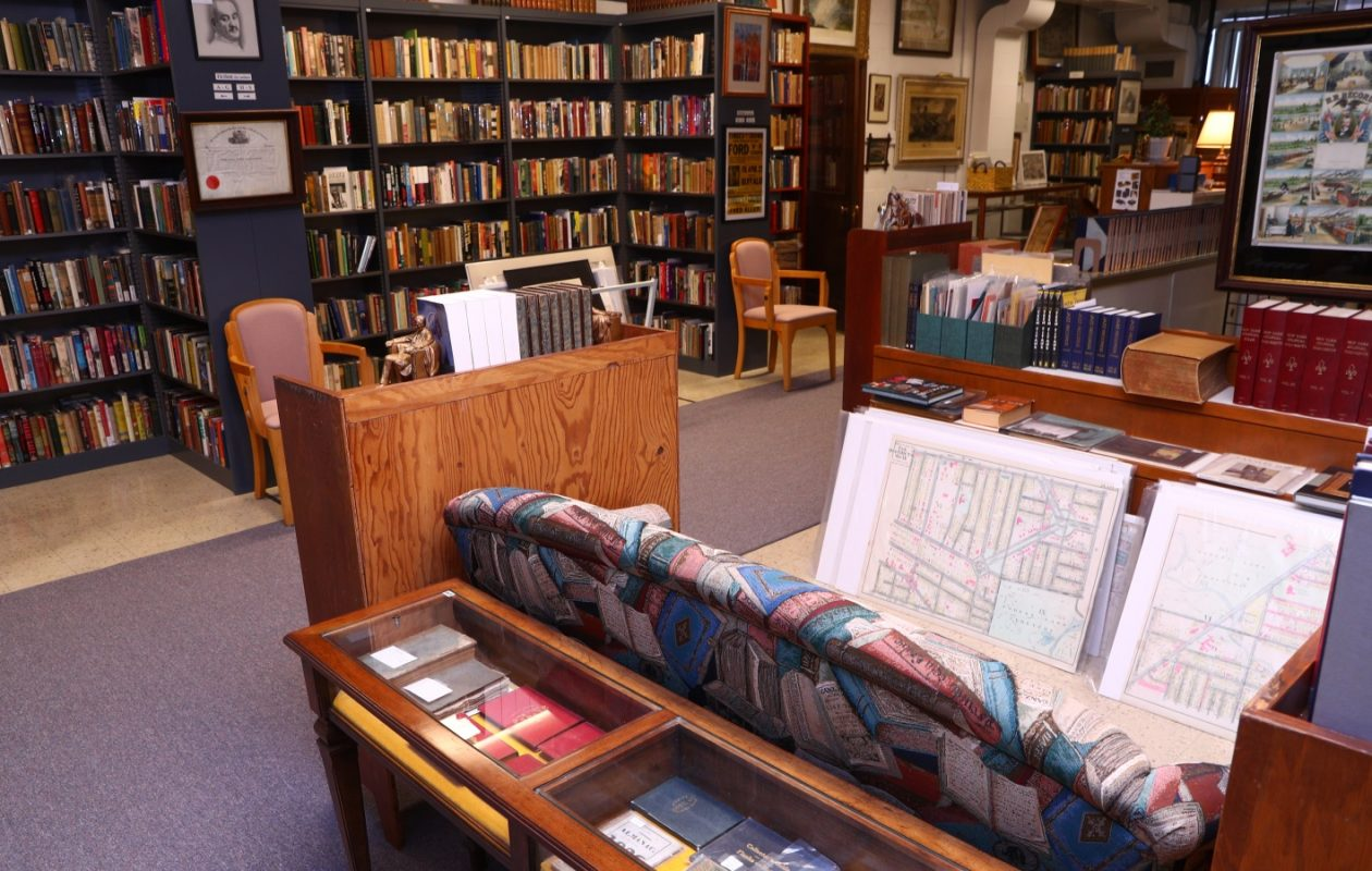 The Old Editions Book Shop & Cafe in downtown Buffalo has 35,000 square feet of bookstore, cafe, and warehouse space. (John Hickey/Buffalo News)