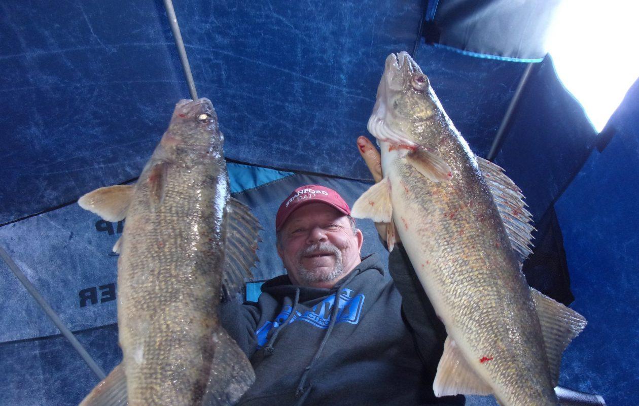 Bob Rustowicz of Cheektowaga has been hitting some nice walleyes on Lake Erie .