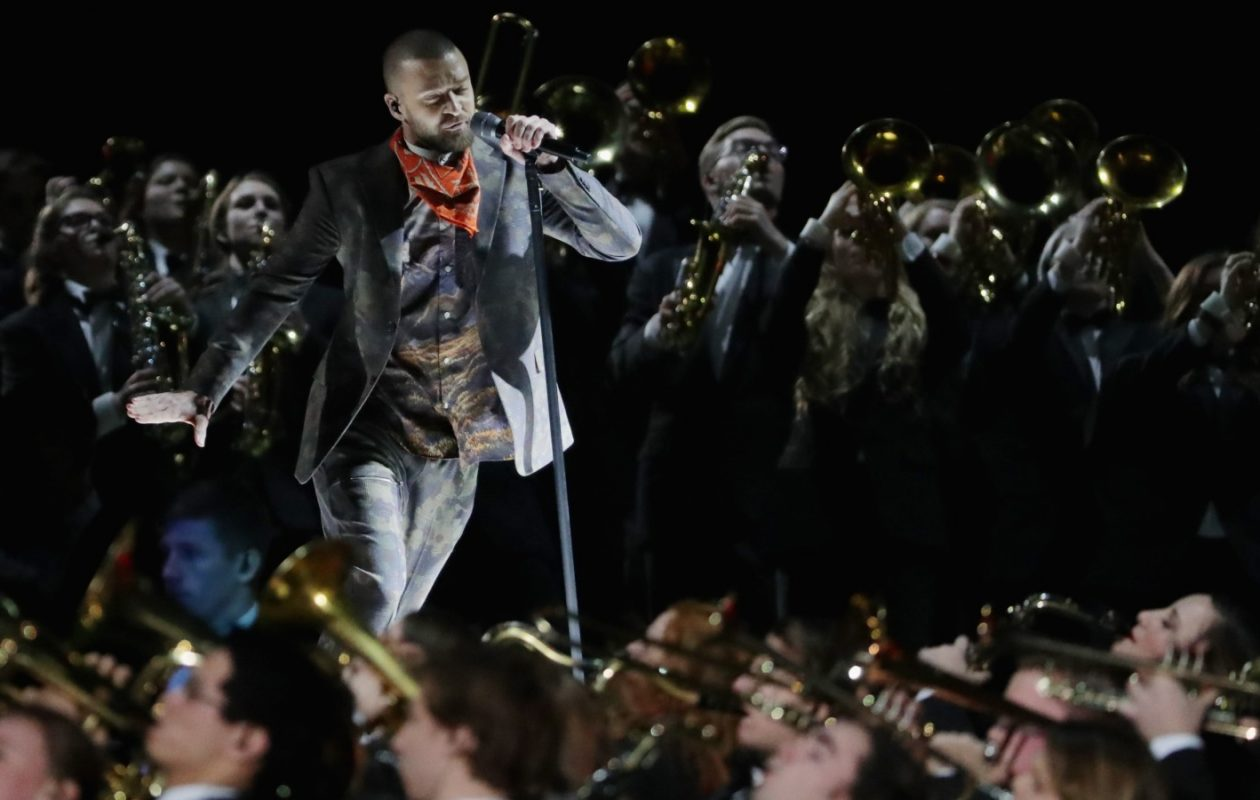 Justin Timberlake's halftime performance included a dialed-back tribute to Prince. (Streeter Lecka/Getty Images)