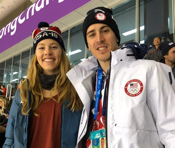 Buffalo Olympians: skier Tricia Mangan and hockey goaltender David Leggio (Martha Mangan)