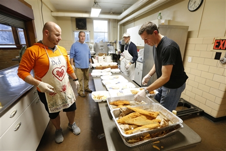 Behind the scenes: A fish fry from St. Mark's