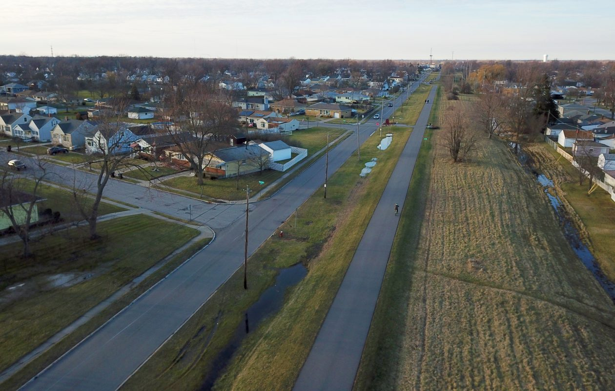 This 3.9-mile trail is composed of two segments on top of a former railroad bed in the Town of Tonawanda and the City of Tonawanda. (John Hickey/Buffalo News)