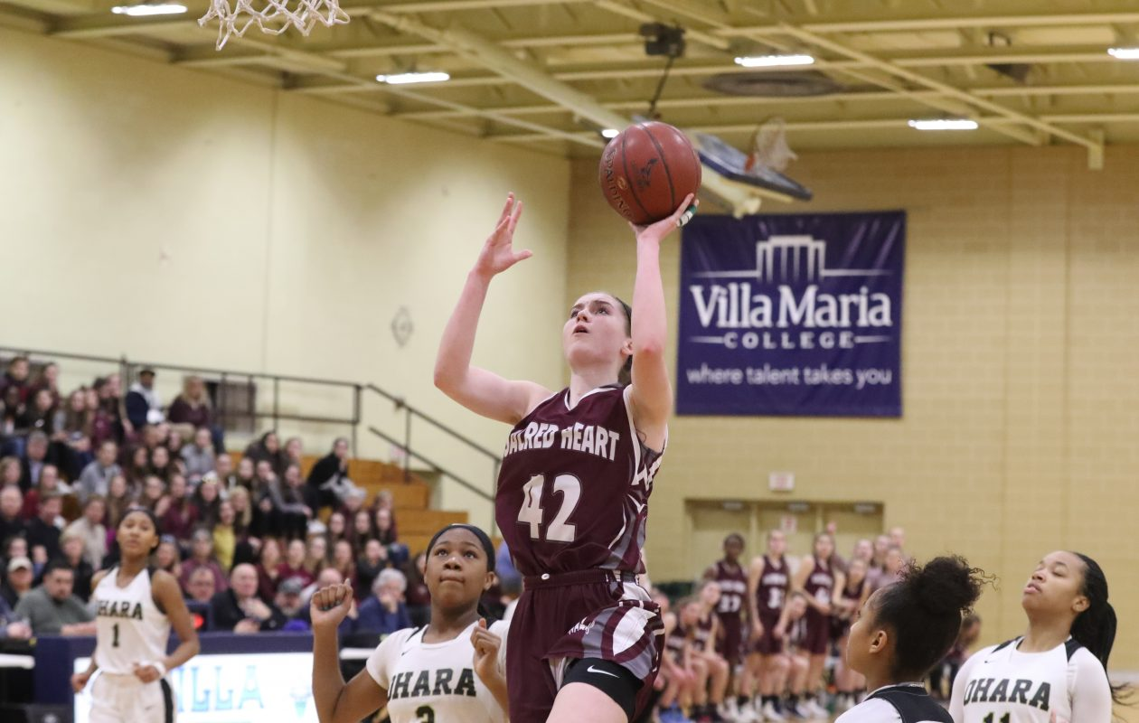 Micaela Ryan  averages nearly 20 points per game for Sacred Heart.  (James P. McCoy / Buffalo News)