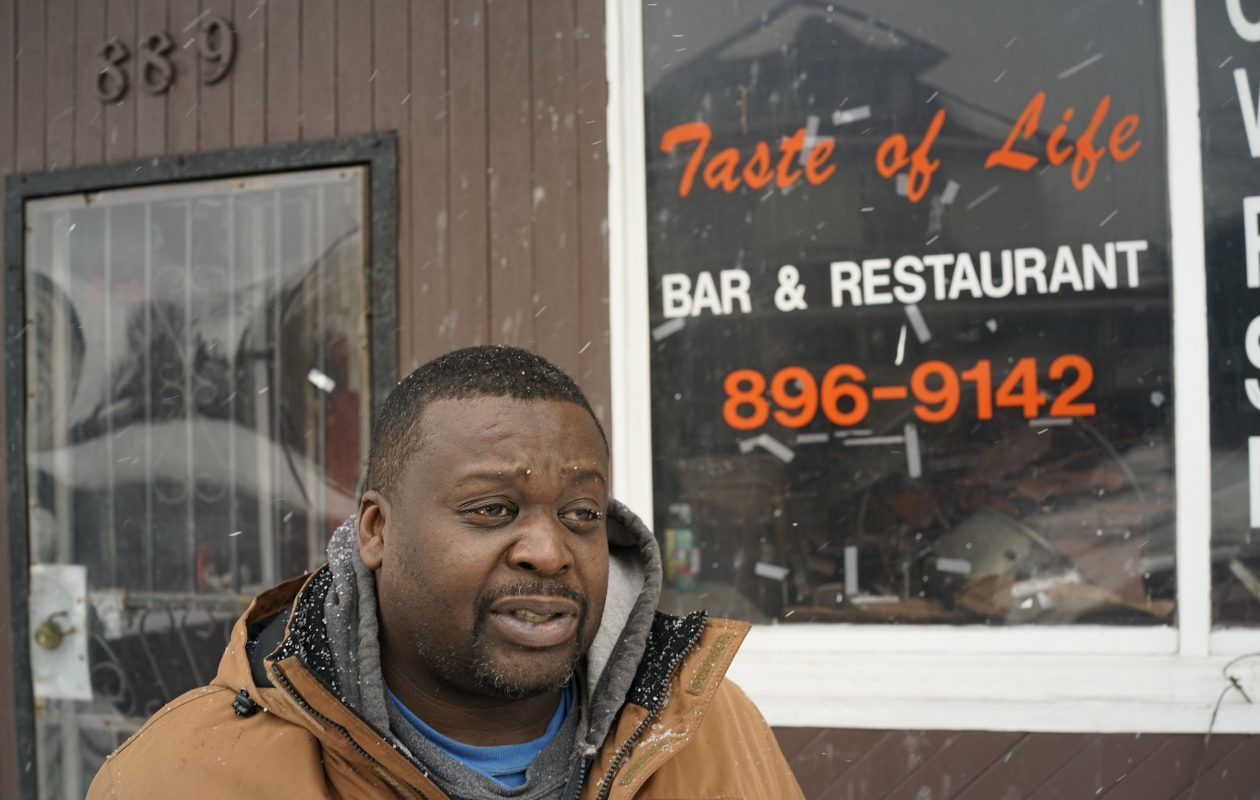 Jimmy Darby, a longtime customer of the  former Taste of Life restaurant on Sycamore, said owner Upendra Bawa understood the struggles of working people who live paycheck to paycheck. Bawa was murdered in his apartment above the restaurant in 2016. (Derek Gee/Buffalo News)