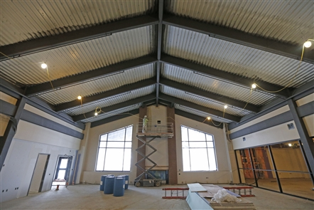 Construction of West Seneca's new library/community building
