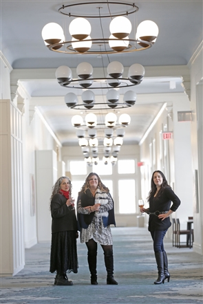 The principal collaborators at Resource:Art of Buffalo have been charged with showcasing mostly local artists on the grand corridors of the Hotel Henry.