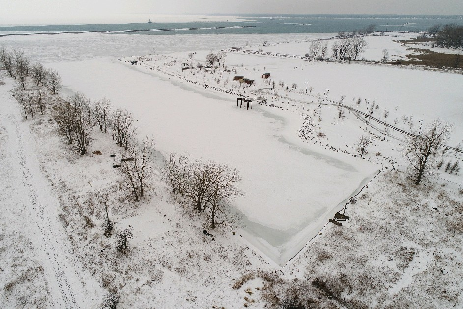 The Outer Harbor area near Wilkeson Pointe is just one place that is benefiting from a growing interest in low-impact recreation. (Derek Gee/Buffalo News)