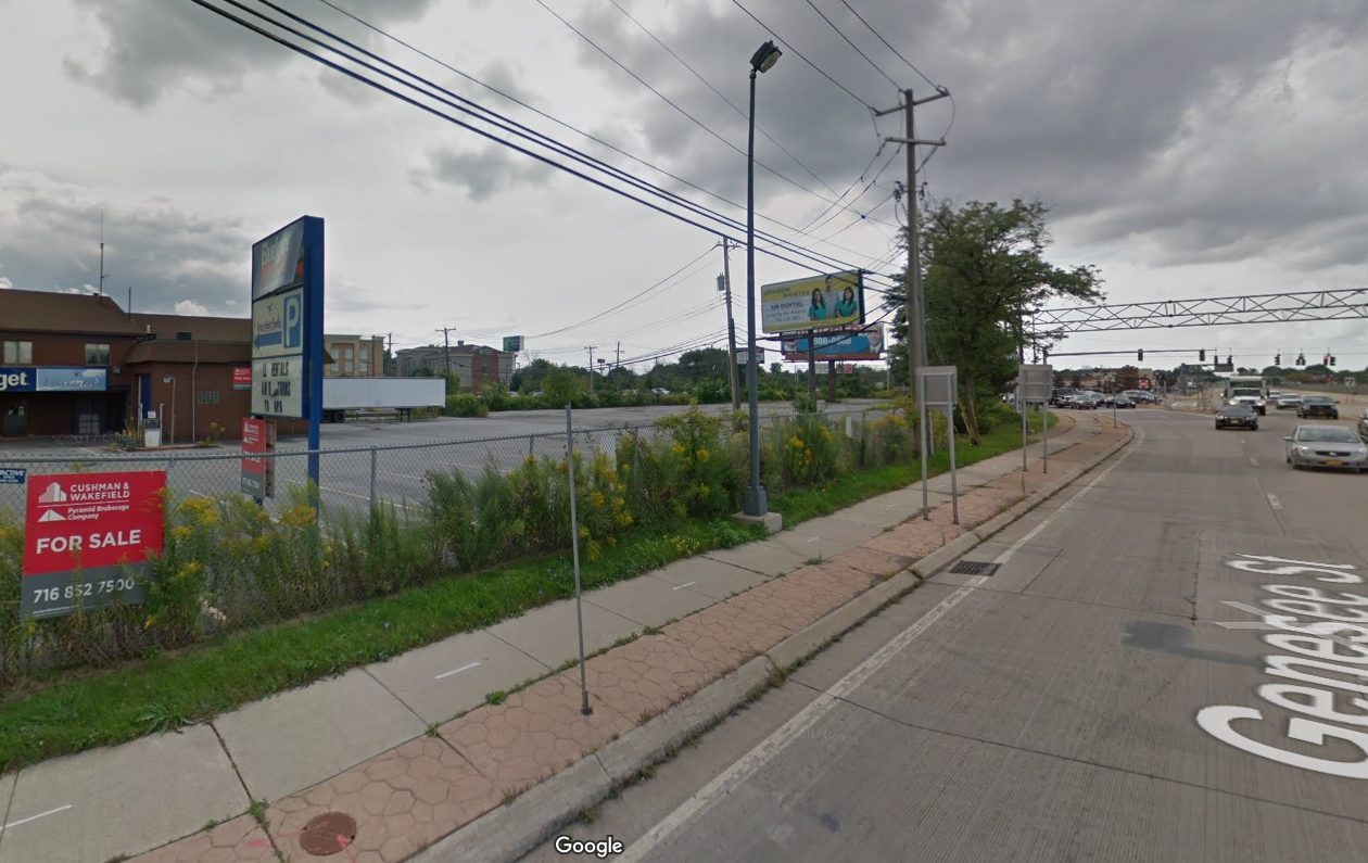 This Budget Rent-A-Car lot near the Buffalo Niagara International Airport at the Kensington Expressway was acquired by Benderson Development Co.