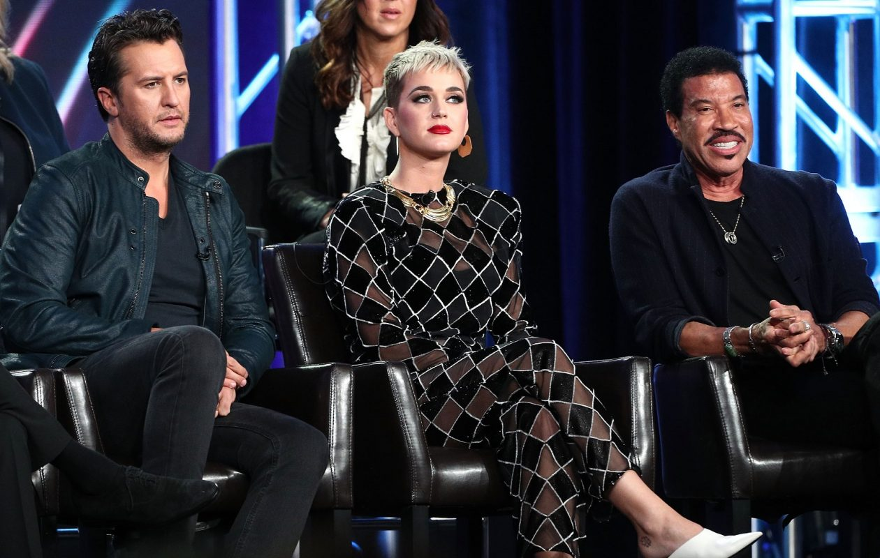 'American Idol' judges Luke Bryan, Katy Perry and Lionel Richie speak onstage during the ABC Television/Disney portion of the 2018 Winter Television Critics Association Press Tour. (Frederick M. Brown/Getty Images)