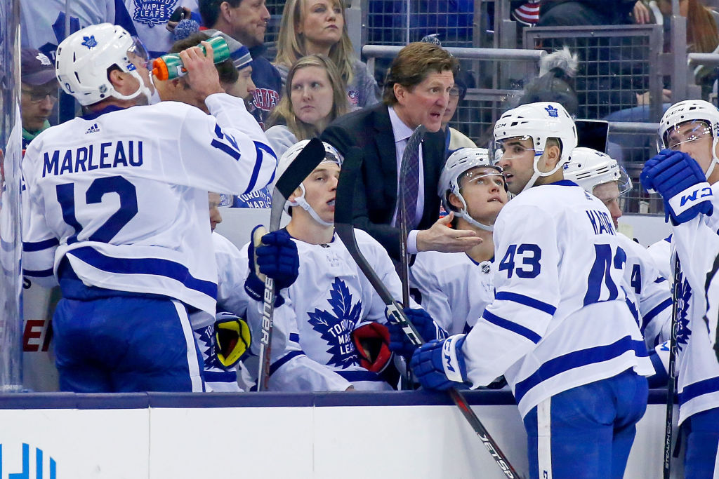 Mike Babcock has the Leafs on the verge of some franchise records (Getty Images).