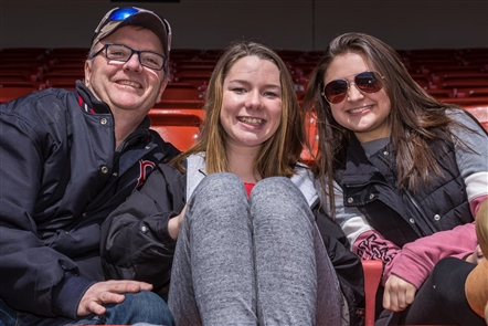 Smiles at Buffalo Bisons Opening Day