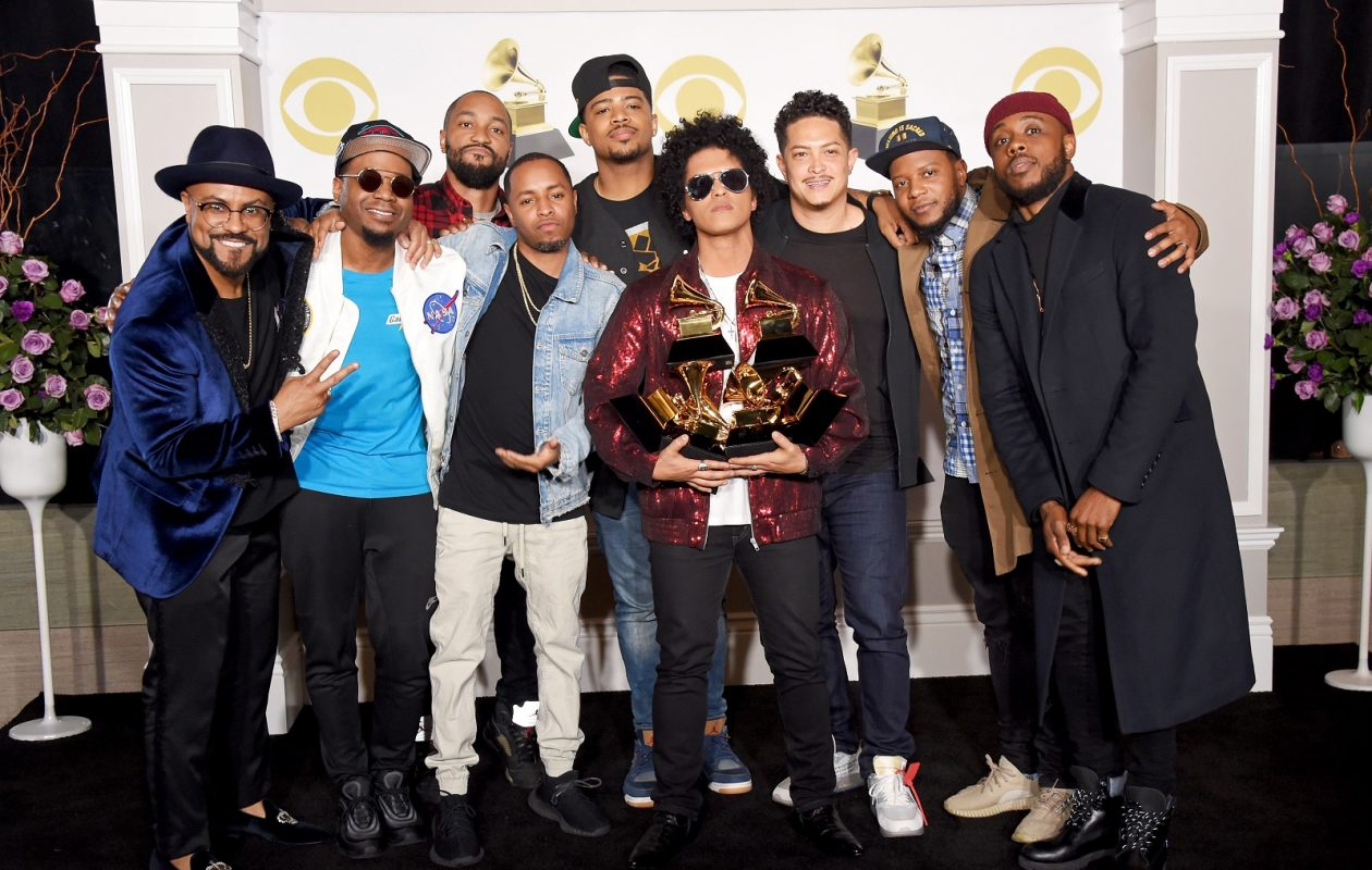 Bruno Mars backstage at the 2018 Grammy Awards, where he pretty much cleaned house. (Photo by Michael Loccisano/Getty Images for NARAS)