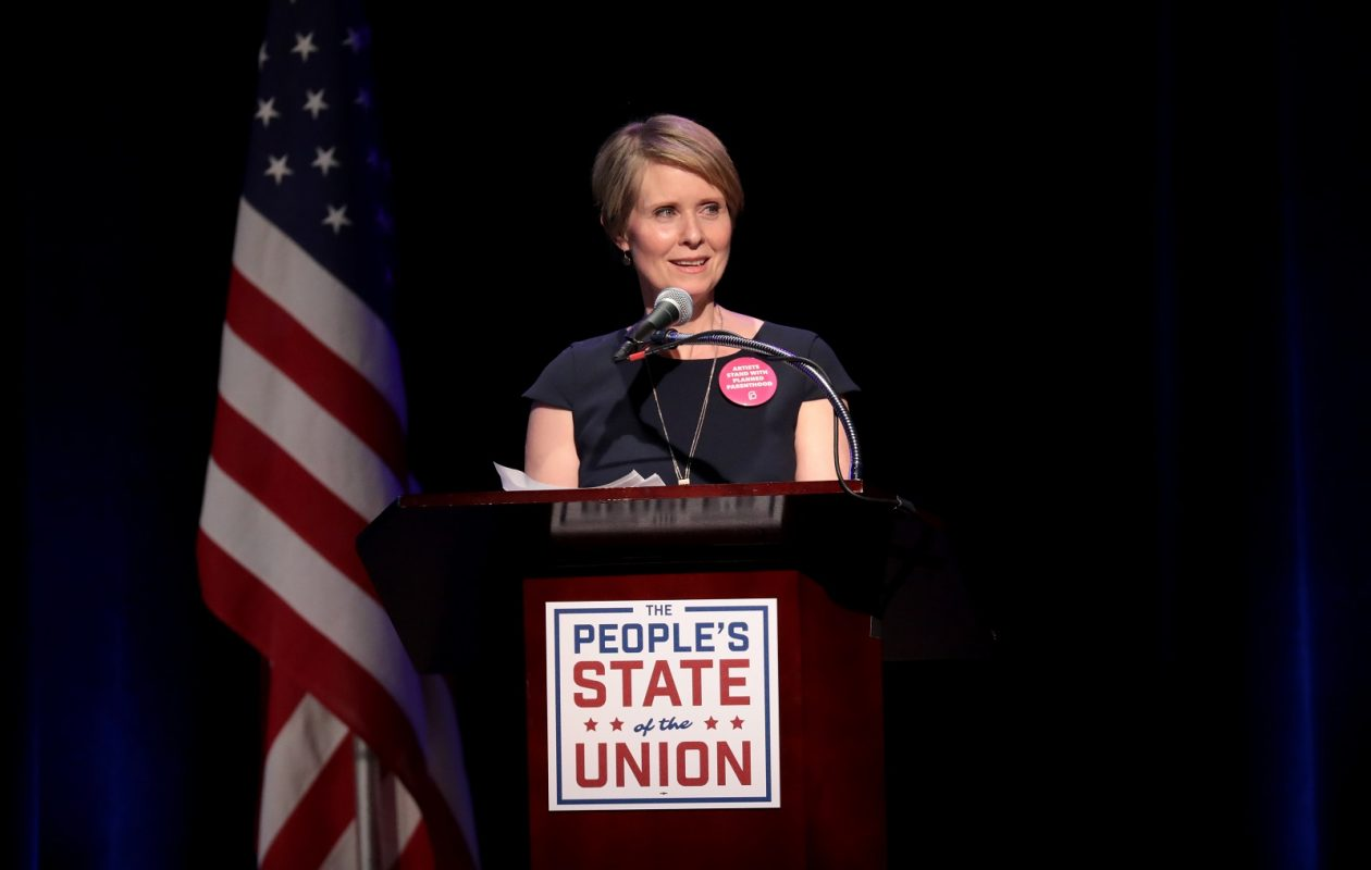 Cynthia Nixon will make her first campaign trip to Buffalo on Wednesday. (Cindy Ord/Getty Images for We Stand United)