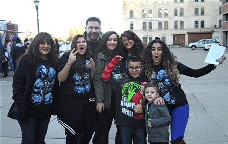 Smiles at WWE Live in First Niagara Center