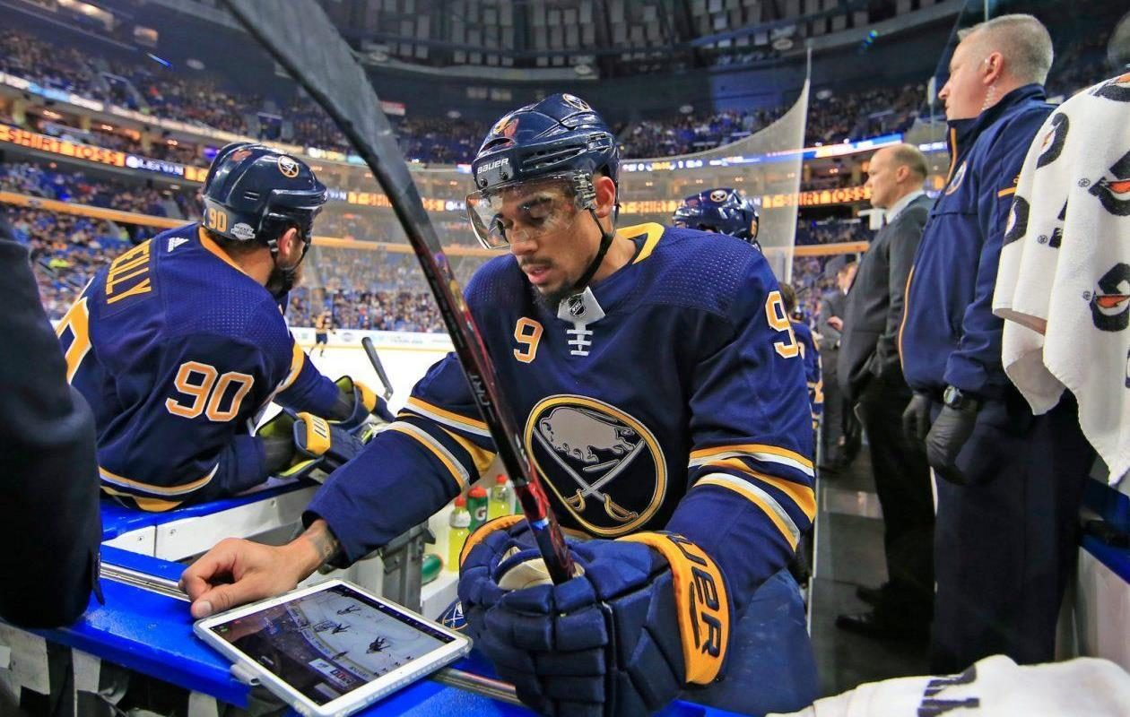 Studying Evander Kane's time in Buffalo is an intricate path. (Harry Scull Jr./Buffalo News)