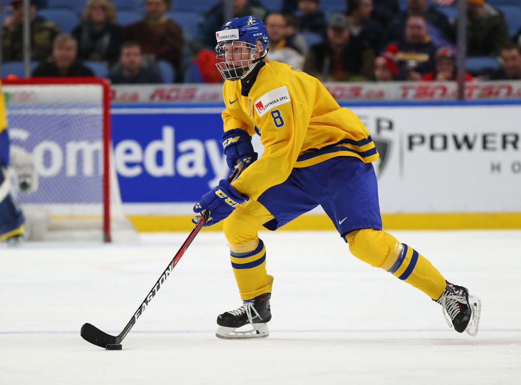 Buffalo fans got a look at Rasmus Dahlin playing for Sweden during the World Junior Championships (Getty Images).