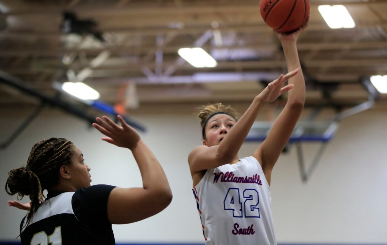 Cardinal O'Hara's Kiara Johnson and Williamsville South's Amari DeBerry are two of the top post players in Western New York. Where will they land on the 2018 All-WNY team? You tell us. (Harry Scull Jr./Buffalo News)