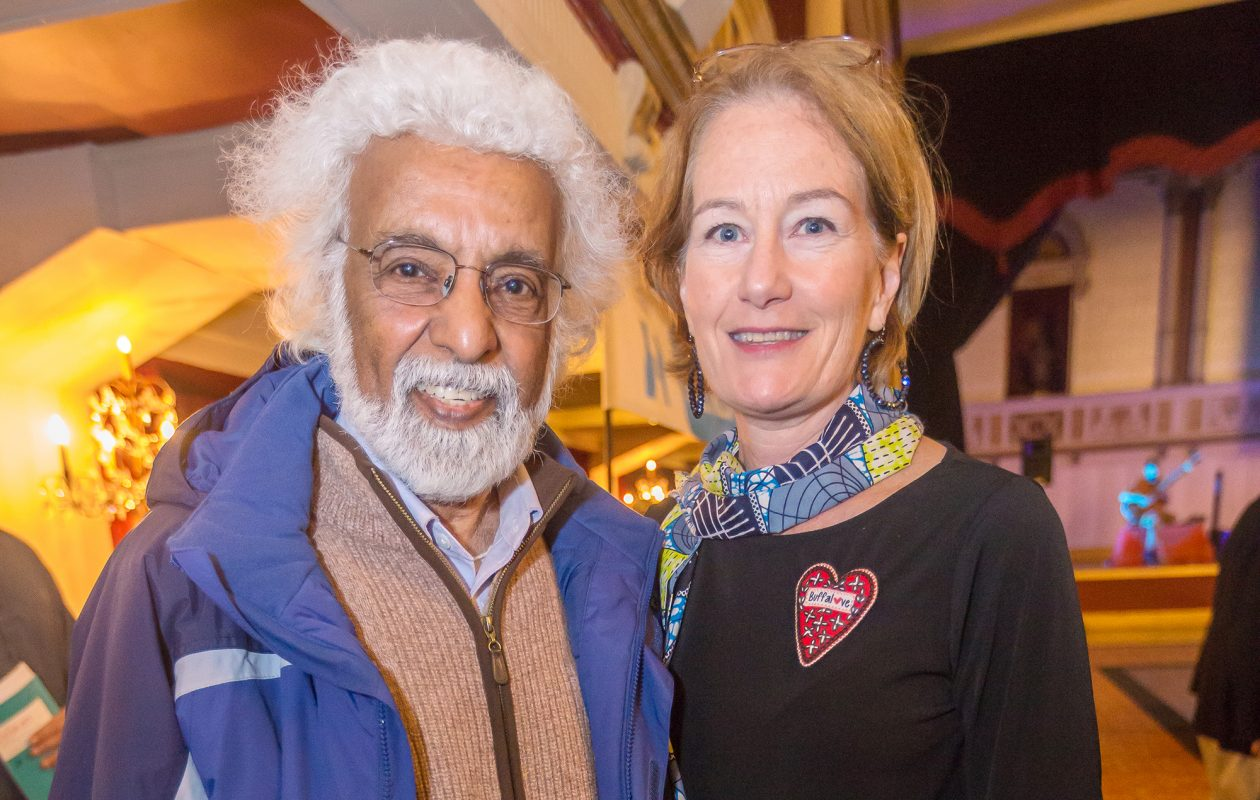 Eva Hassett, right, is pictured at the annual Buffalo Without Borders event with International Institute supporter Dr. Suri Sastri.