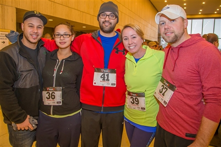 Smiles at Fight for Air Climb in One Seneca Tower