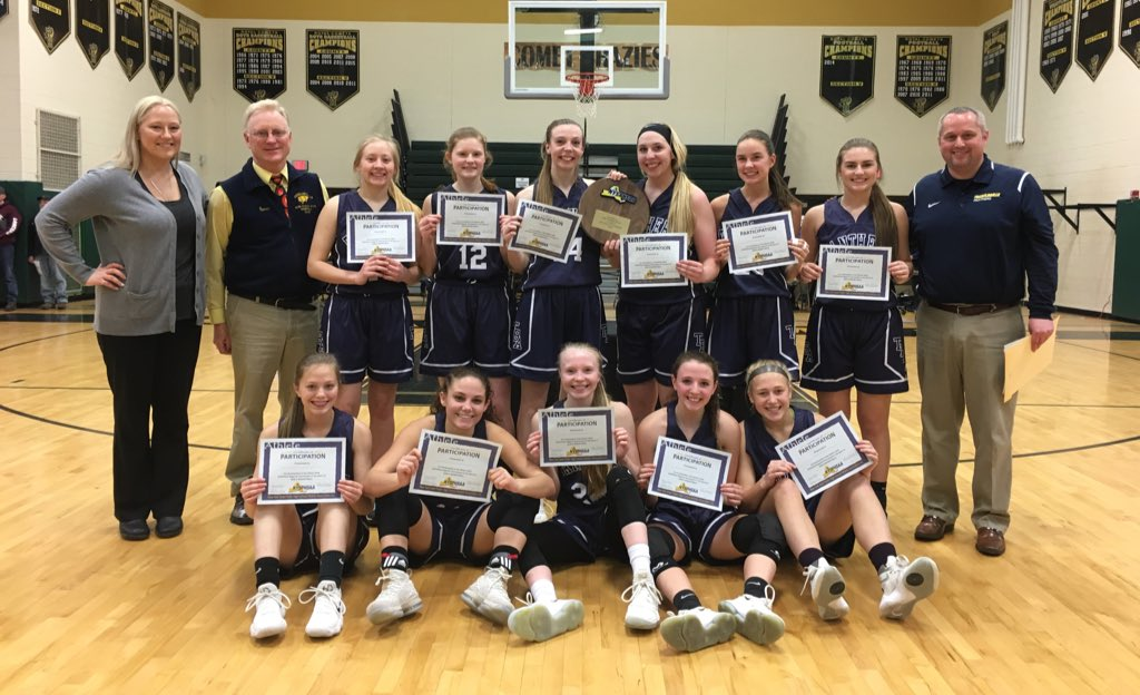The Franklinville girls basketball team takes on Section X's Edwards-Knox Saturday afternoon in the state Class D semifinals.  (@Section6GirlsBB/Twitter)