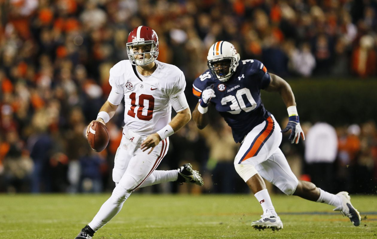 AJ McCarron wore No. 10 with Alabama. Kevin C. Cox/Getty Images)