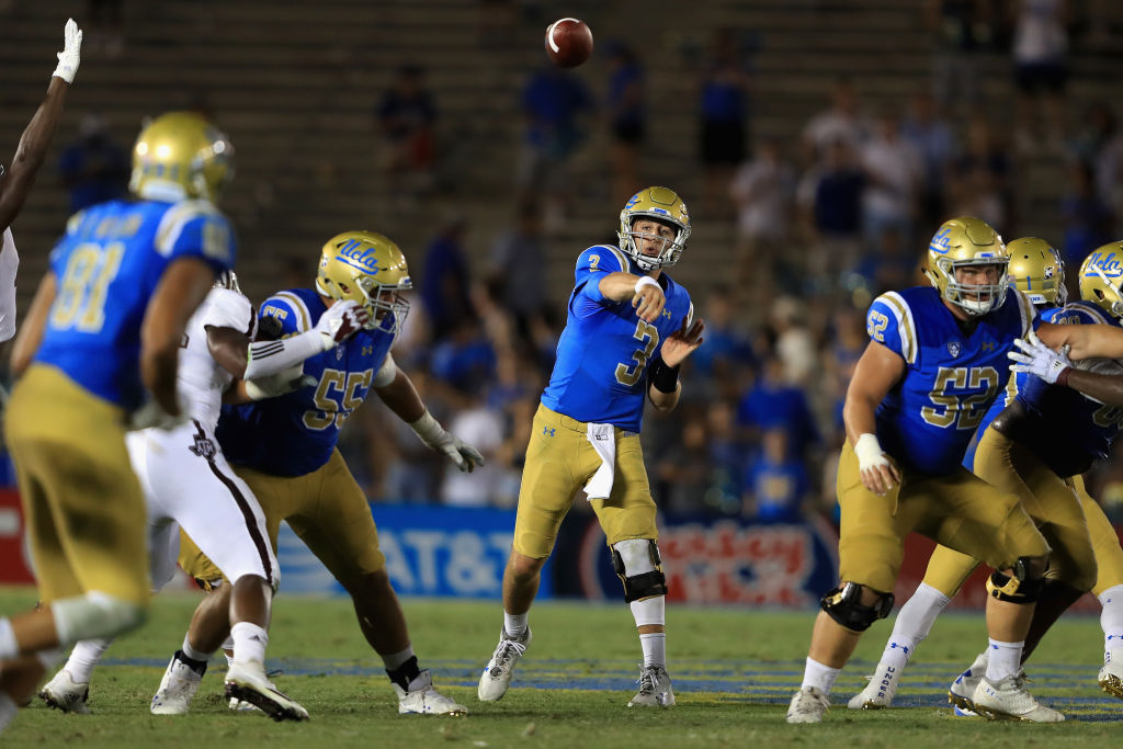 Former UCLA star Josh Rosen is part of a quarterback draft class that Sean McDermott believes is worthy of its consierable hype. (Getty Images file photo)
