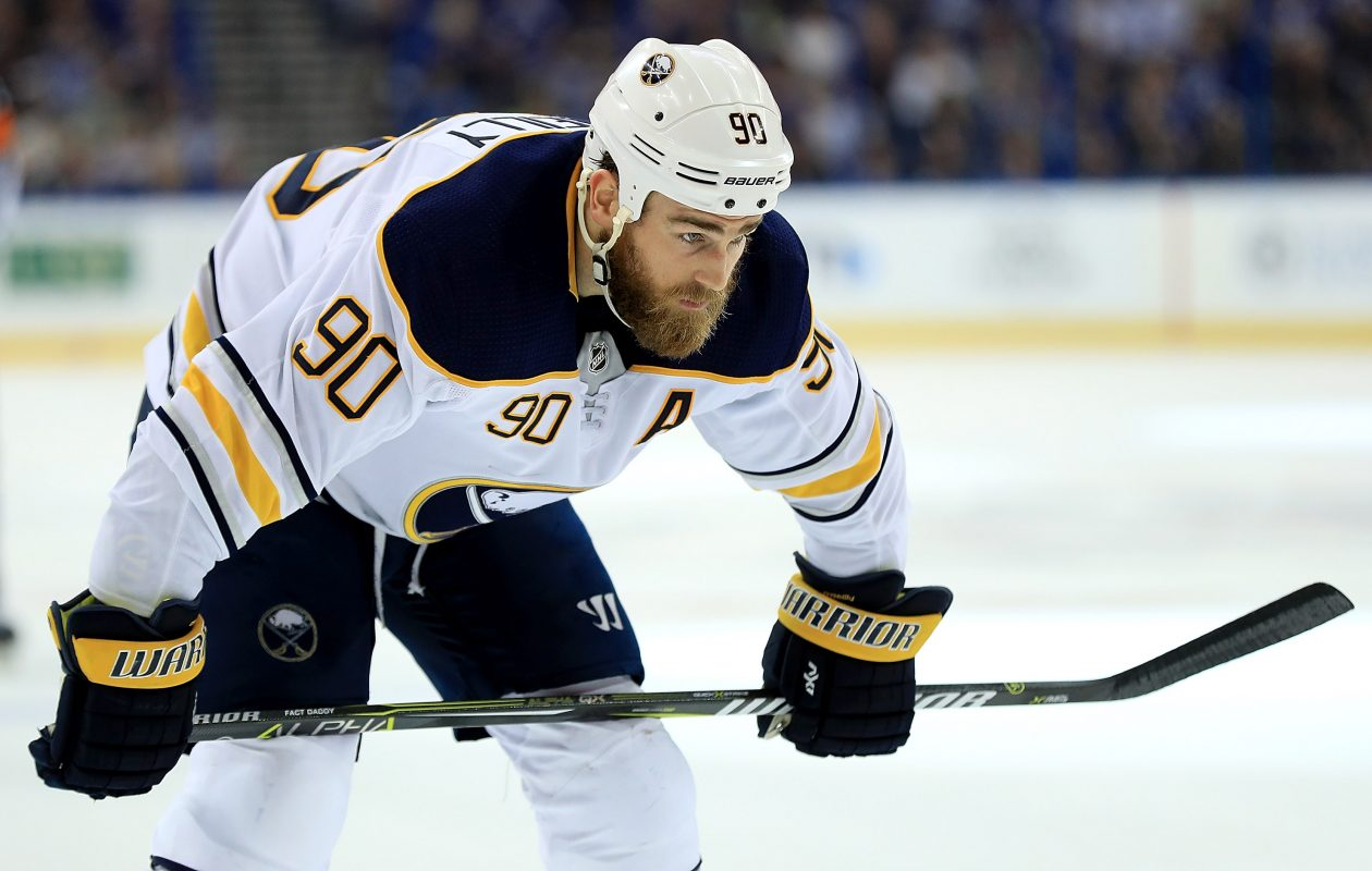Sabres center Ryan O'Reilly earned an assist in the first period. (Getty Images)